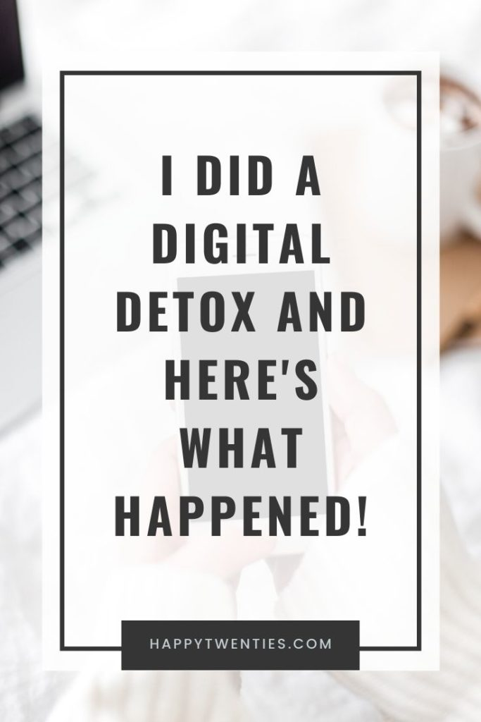 I did a digital detox and here's what happened!